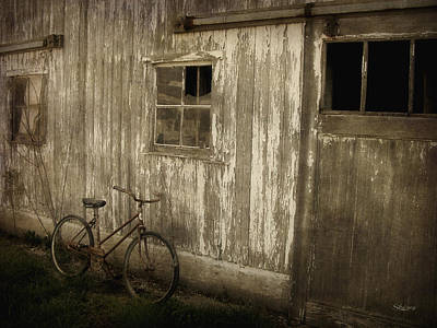 Photograph - Bike With Barn by Cynthia Lassiter