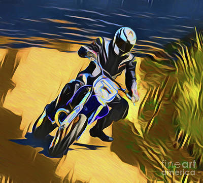 Photograph - Biker 21018 by Ray Shrewsberry