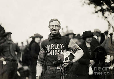 Police Photograph - Harley Davidson Mascot by Jon Neidert