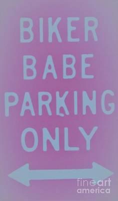 Painting - Biker Babe Parking by Chrisann Ellis