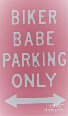 Painting - Biker Babe Parking Only by Chrisann Ellis