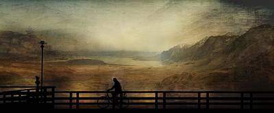 Mural Mixed Media - Biker by Heike Hultsch
