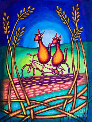 Biker Kats Art Print