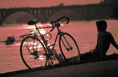 Photograph - Bicycle On Banks Of Potomac River In Washington  by Carl Purcell
