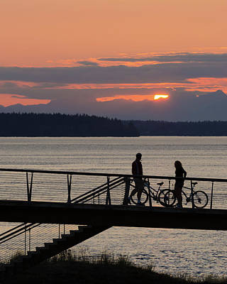 Photograph - Bikers At Sunset by Jason Butts