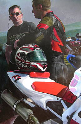 Painting - Bikers At The Horseshoe Pass by Harry Robertson
