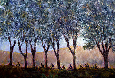 Painting - Bikers Of Burgundy by Jill Musser
