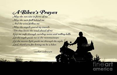 Biker's Prayer Art Print
