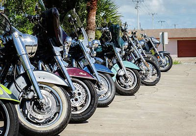 Photograph - Bikers Row by Les Greenwood
