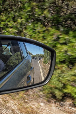 Photograph - Bikers Seen In Rear View Mirror by Patricia Hofmeester