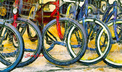 Photograph - Bikes Abstract Small by Floyd Snyder