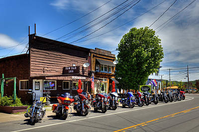 Flags On Faces Semmick Photo - Bikes and Brews - 2017 by David Patterson