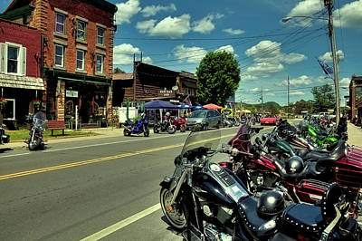 Photograph - Bikes And Brews In Old Forge by David Patterson