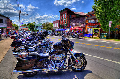 Bikes And Brews In The Adk Art Print by David Patterson