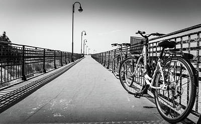 Photograph - Bikes And Fences. by Gary Gillette