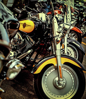 Photograph - Bikes In A Row by Samuel M Purvis III