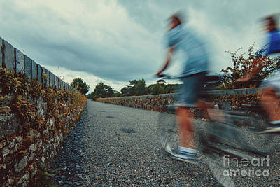 Photograph - Bikes In Motion Near Durrow 1 by Marc Daly