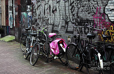 Photograph - Bikes In The Alley by John Rizzuto