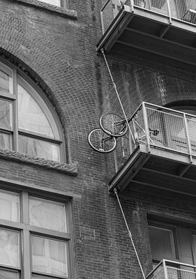 Photograph - Bikes On Balcony by Denise McKay