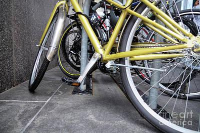 Photograph - Bikes P O V  by John S