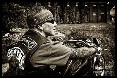 Photograph - Bikes_005 by Tony Cooper