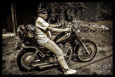Photograph - Bikes_006 by Tony Cooper