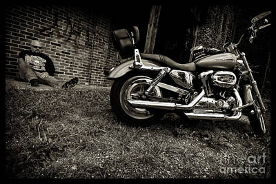 Photograph - Bikes_007 by Tony Cooper