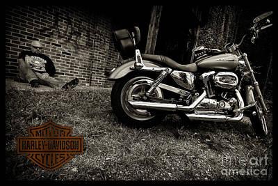 Photograph - Bikes_008 by Tony Cooper