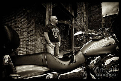 Photograph - Bikes_009 by Tony Cooper