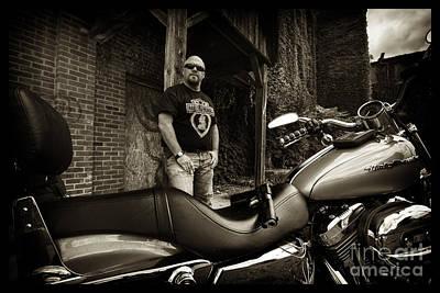 Photograph - Bikes_011 by Tony Cooper