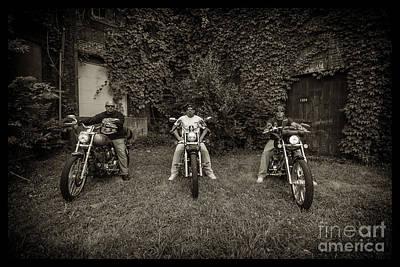 Photograph - Bikes_013 by Tony Cooper