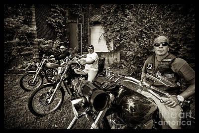 Photograph - Bikes_014 by Tony Cooper