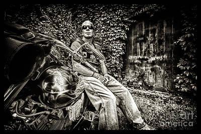 Photograph - Bikes_020 by Tony Cooper