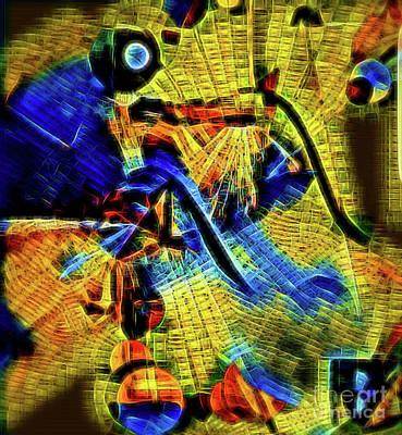 Digital Art - Biking by Diana Mary Sharpton