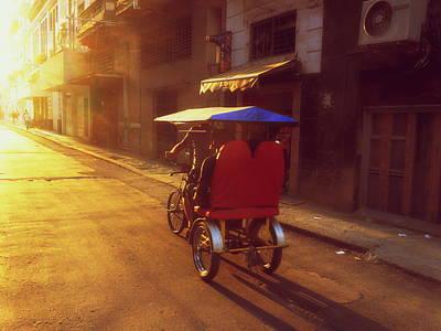Photograph - Biking Havana At Sunset by Funkpix Photo Hunter