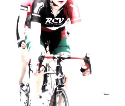 Bike Riding Digital Art - Biking In Her Rcv by Steven  Digman