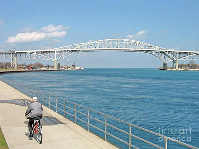 Photograph - Biking Near The Blue Water Bridge by Ann Horn