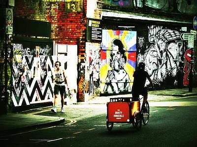 Photograph - Biking Shoreditch London  by Funkpix Photo Hunter
