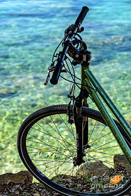 Photograph - Biking The Rovinj Coastline - Rovinj, Istria, Croatia by Global Light Photography - Nicole Leffer