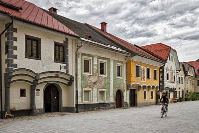 Photograph - Biking Through Radovljica - Slovenia by Stuart Litoff