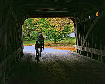 Photograph - Biking Through The Great Eddy Bridge by Allen Beatty