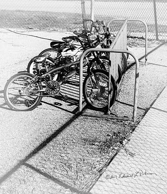 Photograph - Biking To School by Edward Peterson
