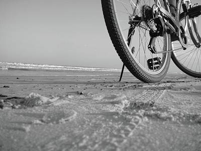 Biking To The Beach Art Print