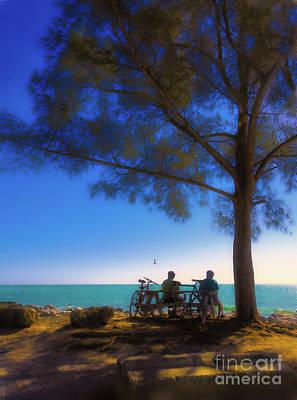 Photograph - Biking Ver 3 by Larry Mulvehill