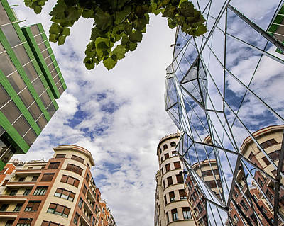 Photograph - Bilbao Cityscape With Basque Health Department Building by Phil Cardamone