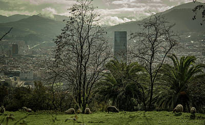Photograph - Bilbao Spain From Above by Henri Irizarri