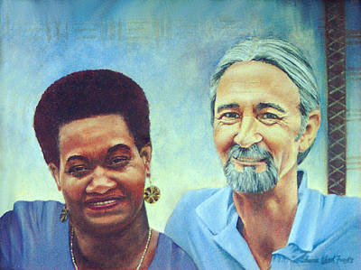 Painting - Bill And Ini by Sharon Ebert