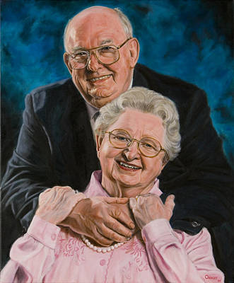 Steele Painting - Bill And Kaye Steele by Christopher Oakley