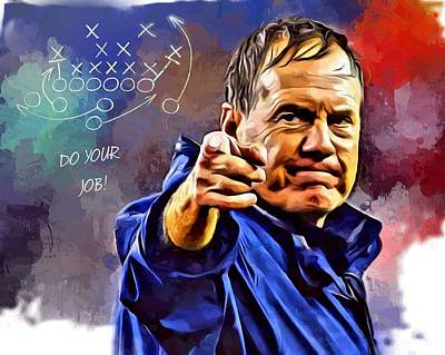 Landmarks Royalty-Free and Rights-Managed Images - Bill Belichick Do Your Job by Scott Wallace Digital Designs