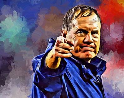 Bill Belichick Art Print by Scott Wallace